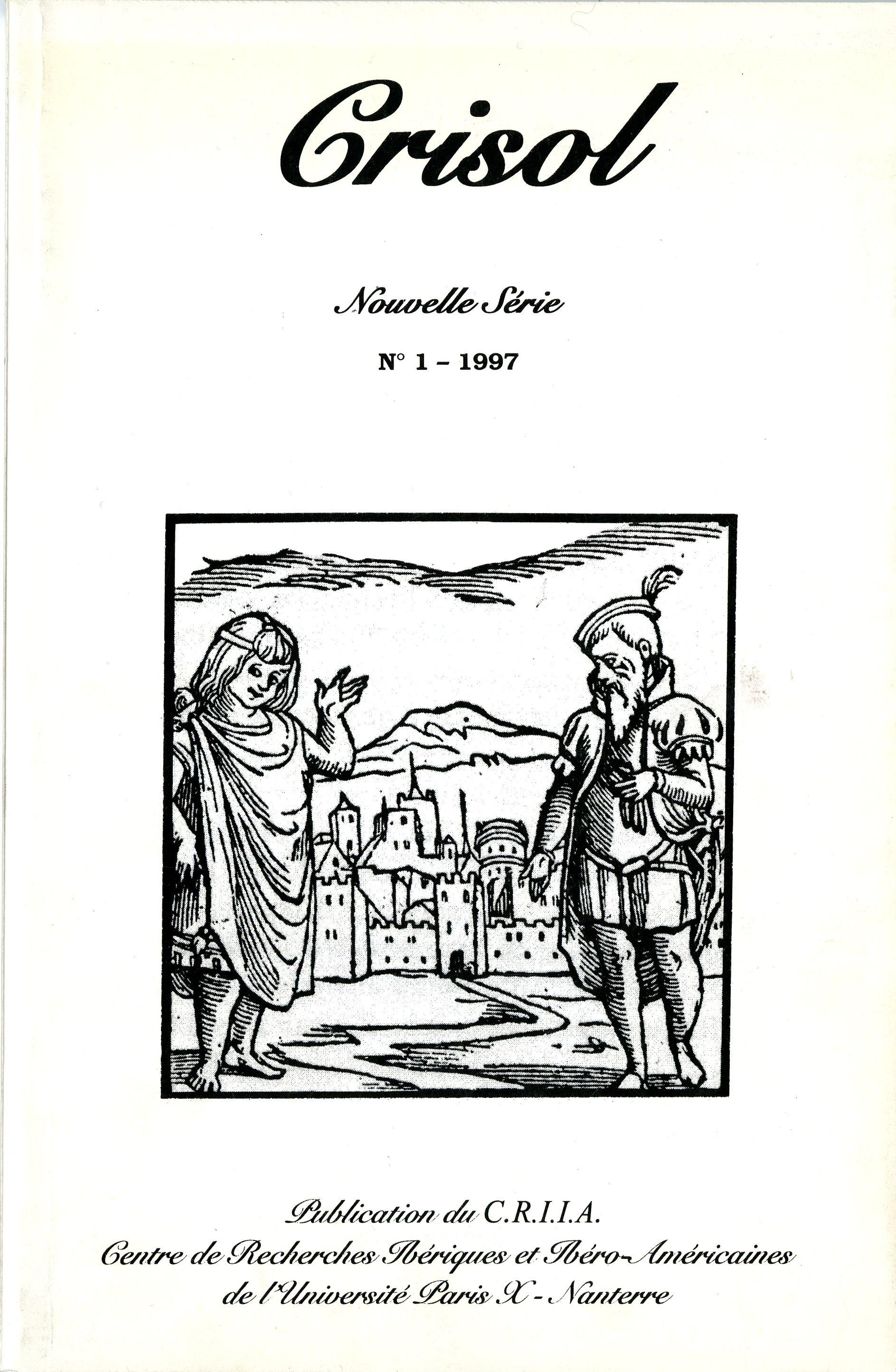 Crisol, Nouvelle série, n°1, 1997